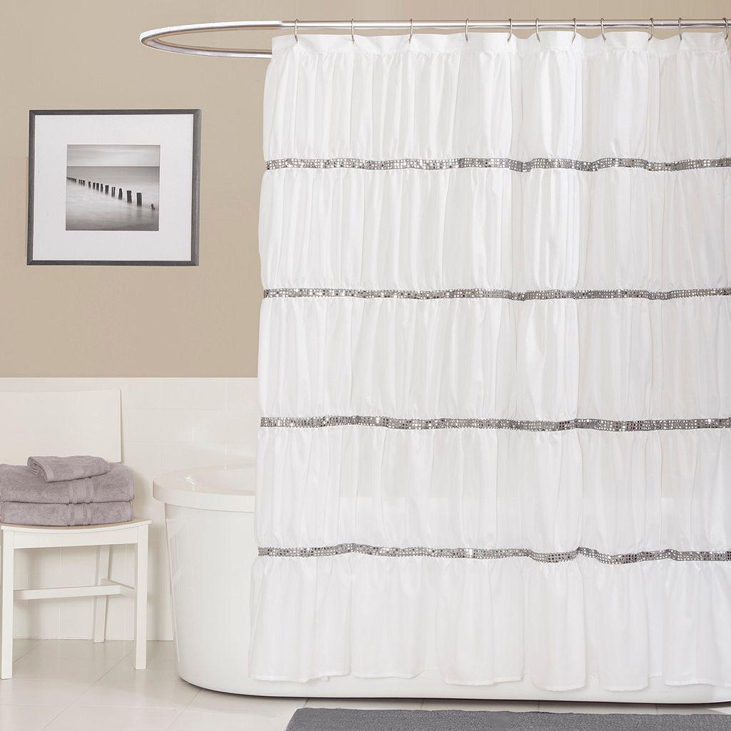 Lush Decor Twinkle Fabric Shower Curtain