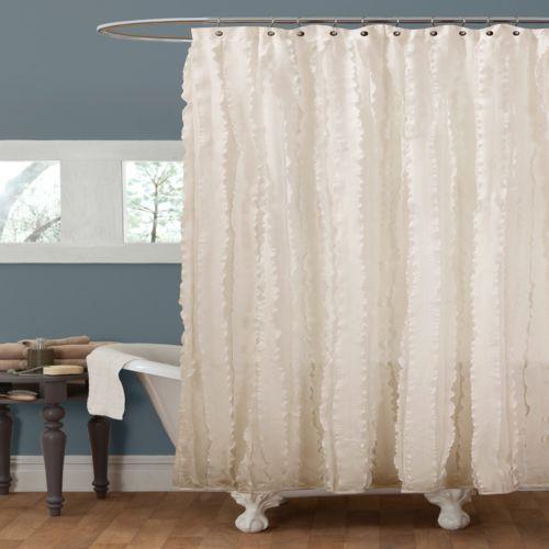 Lush Decor Modern Chic Fabric Shower Curtain