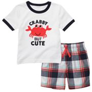 Carter's Crab Tee and Plaid Shorts Set - Toddler