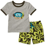 Carter's Monkey Tee and Hibiscus Shorts Set - Toddler