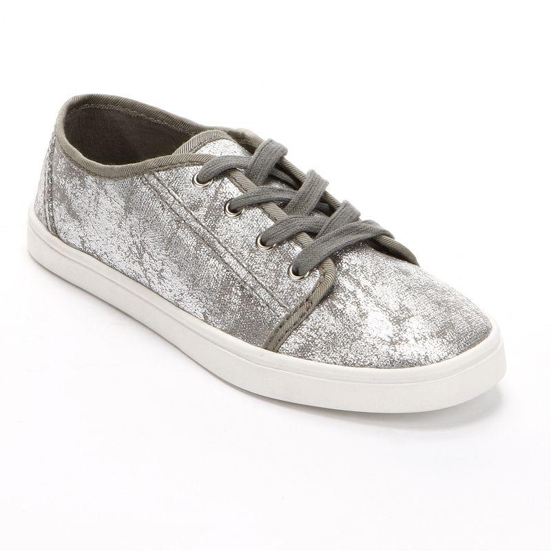 Unleashed by Rocket Dog Grey Metallic Shoes - Women