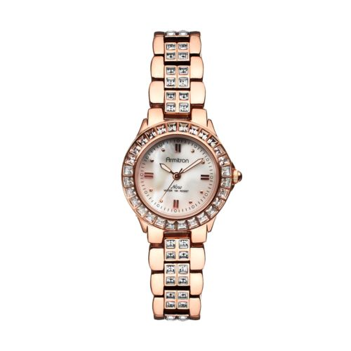 Armitron NOW Crystal and Mother-of-Pearl Watch - Made with Swarovski Elements - Women