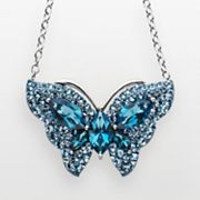 Artistique Sterling Silver Crystal Butterfly Necklace - Made With Swarovski Elements