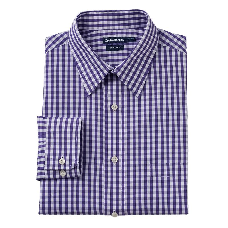 Men's Croft & Barrow® Classic-Fit Easy-Care Point-Collar Dress Shirt