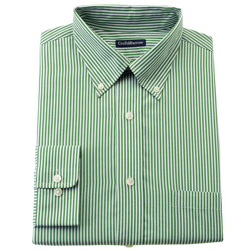 Croft & Barrow® Striped Slim-Fit Button-Down Dress Shirt - Men