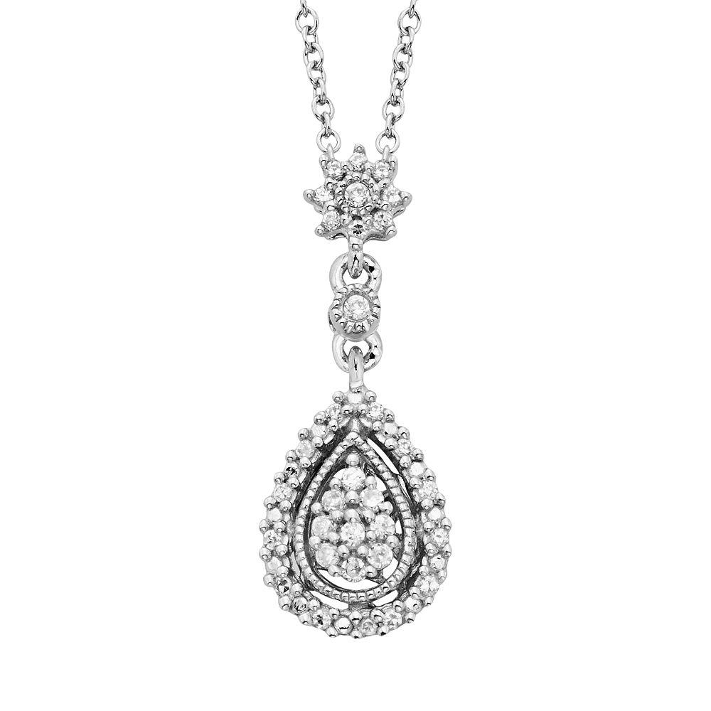 Simply Vera Vera Wang Sterling Silver 1/7-ct. T.W. Diamond Pendant