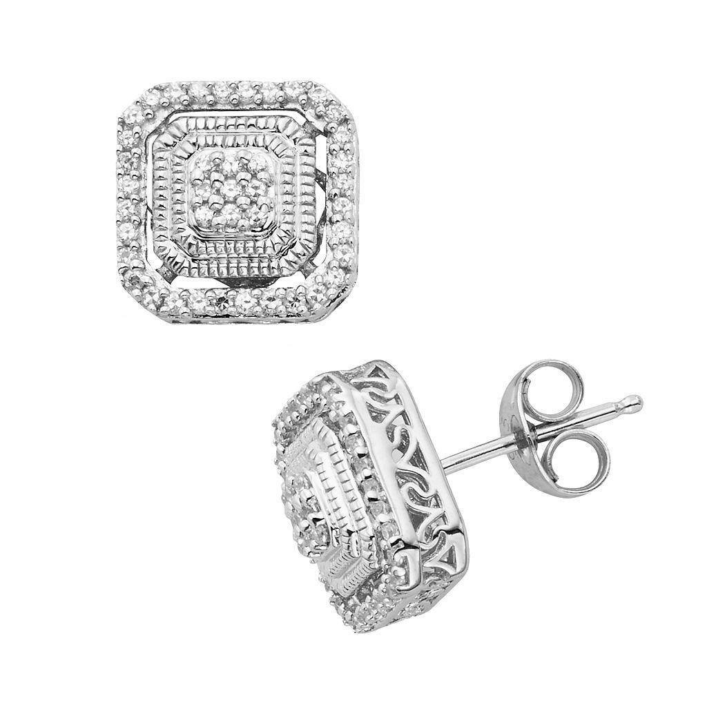 Simply Vera Vera Wang Sterling Silver 1/5-ct. T.W. Diamond Tiered Stud Earrings