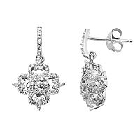 Simply Vera Vera Wang Sterling Silver 1/3 ctT.W. Diamond Drop Earrings