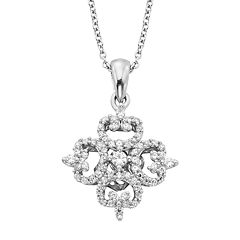 Simply Vera Vera Wang Sterling Silver 1/3-ct. T.W. Diamond Pendant