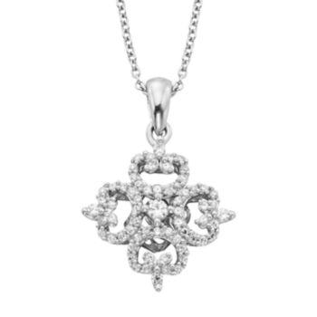 Simply Vera Vera Wang Sterling Silver 1/3-ct. T.W. Diamond Pendant