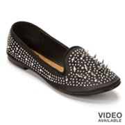 NYLA Tabitha Studded Smoking Flats - Women