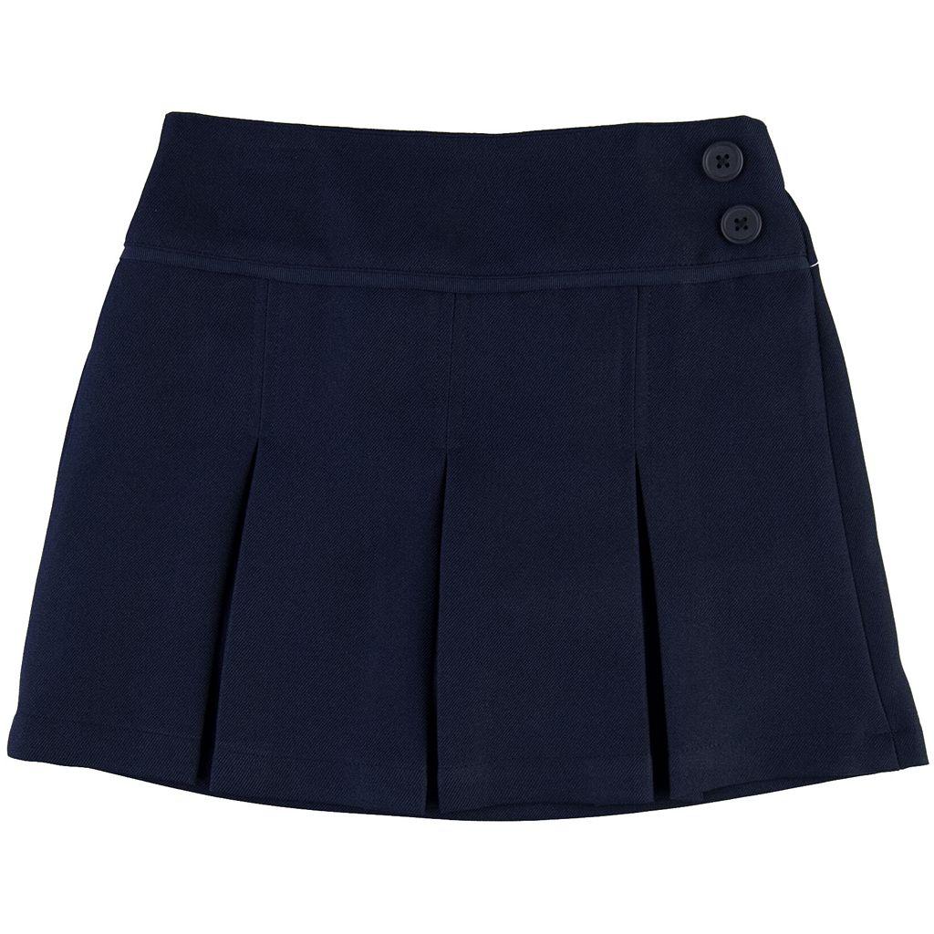 Girls 4-6x Chaps Button Pleated School Uniform Skort