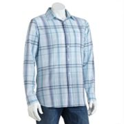 SONOMA life + style Plaid Poplin Roll-Tab Casual Button-Down Shirt
