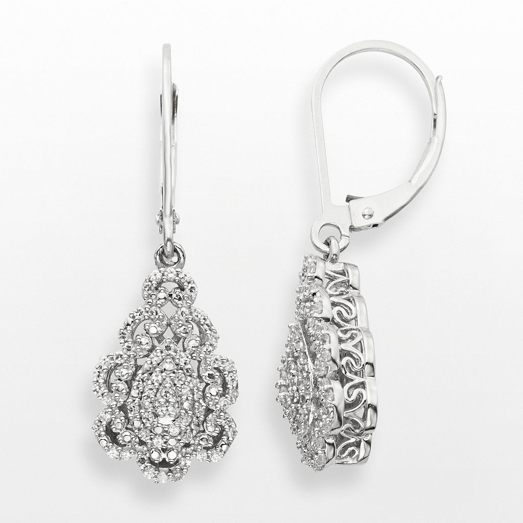 Simply Vera Vera Wang Sterling Silver 1/3-ct. T.W. Diamond Teardrop Earrings