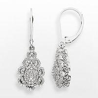 Simply Vera Vera Wang Sterling Silver 1/3 ctT.W. Diamond Teardrop Earrings