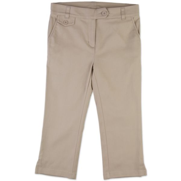 Chaps Girls Skinny Capris Uniform Pants