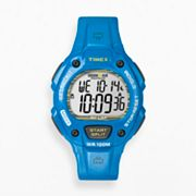 Timex Ironman Triathlon Blue Resin Digital 30-Lap Chronograph Watch - T5K685