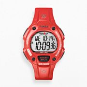Timex Ironman Triathlon Orange Resin Digital 30-Lap Chronograph Watch - T5K686KZ