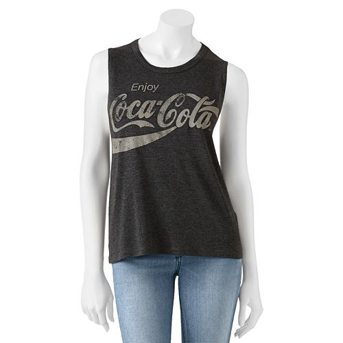 Jerry Leigh Coca-Cola Sleeveless Tee - Juniors