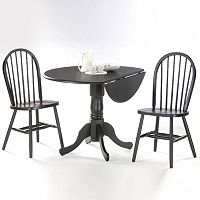 Windsor 3 pc Drop-Leaf Dining Table & Chair Set