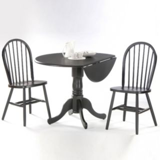 Windsor 3-pc. Drop-Leaf Dining Table and Chair Set
