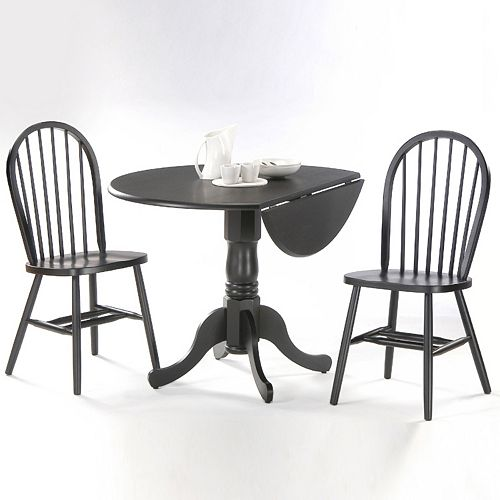 Windsor 3 Pc Drop Leaf Dining Table And Chair Set