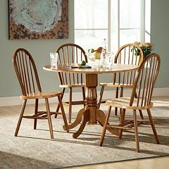 Windsor 5 pc Drop-Leaf Dining Table & Chair Set