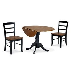Madrid 3 pc Drop Leaf Dining Table and Chair Set