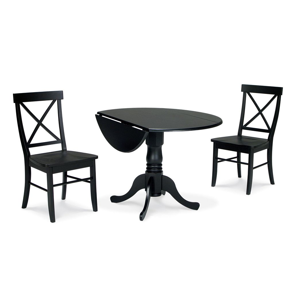 3-pc. Drop-Leaf Dining Table and Chair Set