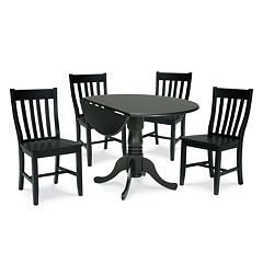 5 pc Drop-Leaf Dining Table & Chair Set