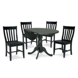 5-pc. Drop-Leaf Dining Table and Chair Set