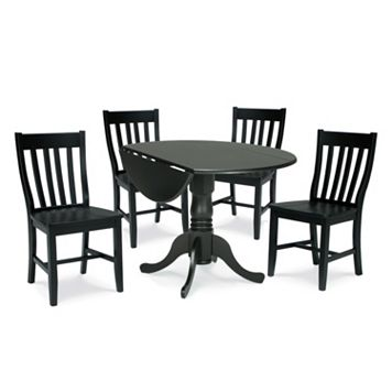 5-pc. Drop-Leaf Dining Table & Chair Set