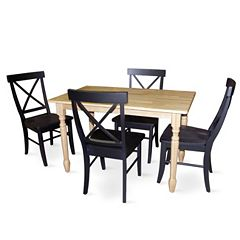 Two-Tone 5-pc. Dining Table & Chair Set