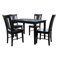 Brown 5 pc Dining Table & Chair Set