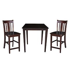 3 pc Dining Table & Counter Stool Set