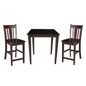 3-pc. Dining Table and Counter Stool Set
