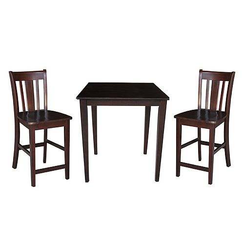 3-pc. Dining Table & Counter Stool Set