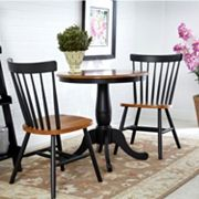 3 pc Round Dining Table & Chair Set