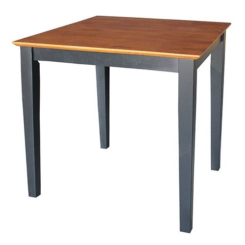 Square Two-Tone Shaker-Styled Table