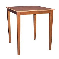 Tall Square Two-Tone Shaker-Styled Table
