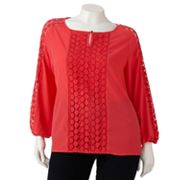 Dana Buchman Crochet-Trim Top - Women's Plus
