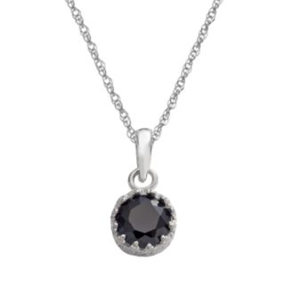 Tiara Sterling Silver Lab-Created Sapphire Pendant