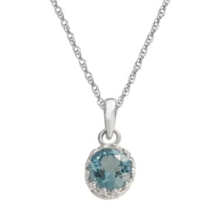 Tiara Sterling Silver London Blue Topaz Pendant
