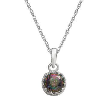 Tiara Sterling Silver Rainbow Quartz Pendant