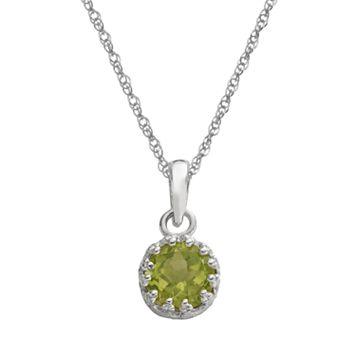 Tiara Sterling Silver Periodot Pendant