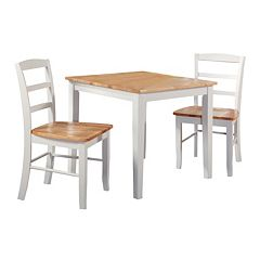 3 pc Contemporary Dining Table & Chair Set