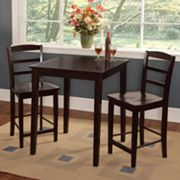 3 pc Madrid Contemporary Dining Table & Counter Stool Set