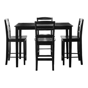 5-pc. Dining Table & Counter Stool Set