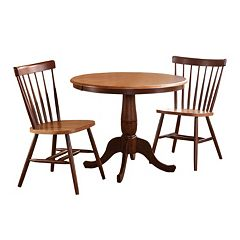 Round Pedestal Dining Table & Chair 3-piece Set