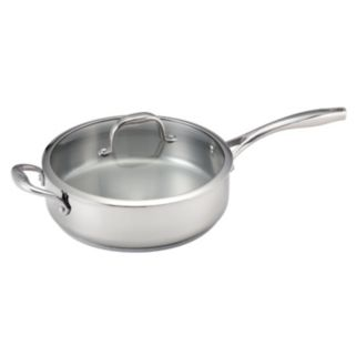 Guy Fieri 5-qt. Nonstick Stainless Steel Deep Covered Saute Pan
